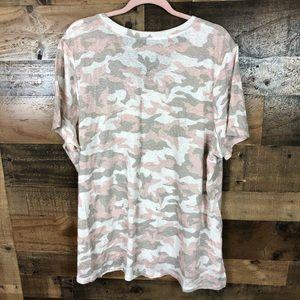 Lane Bryant Tops - Lane Bryant pink camo t-shirt
